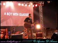 a boy with glas