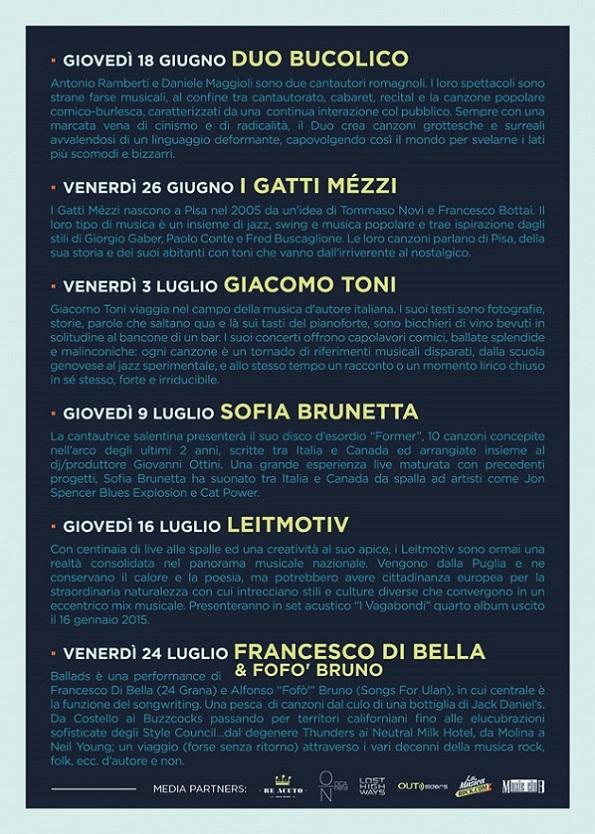 Retro flyer Picherle Bologna